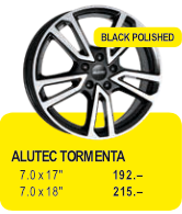 ALUTEC TORMENTA - BLACK POLISHED