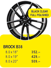 BROCK B38 - BLACK CLEAR FULL POLISHED