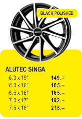ALUTEC SINGA - BLACK POLISHED