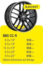 BBS CC-R - BLACK MATT