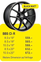 BBS CI-R - BLACK MATT