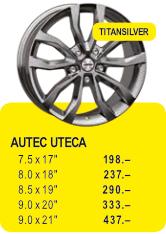 AUTEC UTECA - TITANSILVER