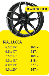 RIAL LUCCA - BLACK POLISHED