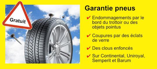 Garantie pneus